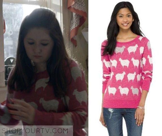 Shameless: Season 5 Episode 12 Debbie's Pink Sheep Print Sweater