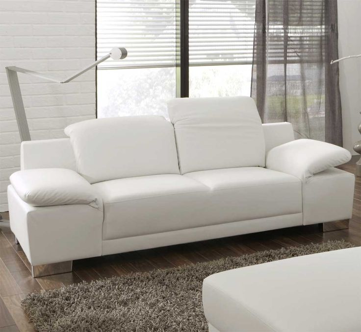 Sofa 2-Sitzer in Weiß mit verstellbaren Armlehnen Jetzt bestellen unter: https://moebel.ladendirekt.de/wohnzimmer/sofas/2-und-3-sitzer-sofas/?uid=4d71f5a3-b598-5f8d-abc3-c860de150837&utm_source=pinterest&utm_medium=pin&utm_campaign=boards #ledercouch #sofa #zweier #einzelsofa #2sitzer #couch #wohnzimmercouch #relaxcouc #zweiersofa #relaxsofa #sofas #ledersofa #3sitzersofas #leder #zweisitzer #wohnzimmer #2er