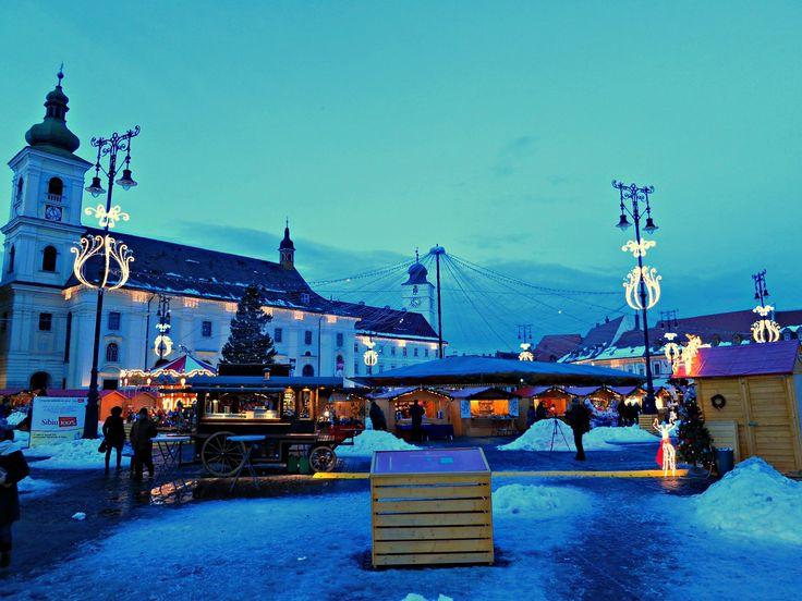 Sibiu Christmas Market in Romania