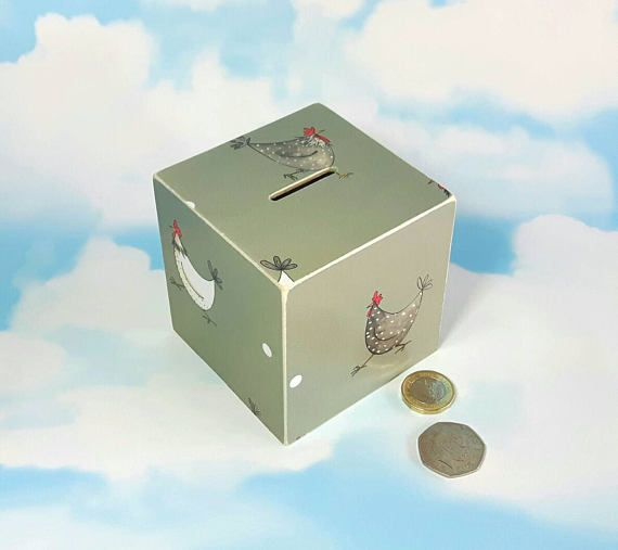 Check out this item in my Etsy shop https://www.etsy.com/uk/listing/387182184/hens-money-box-chicken-gifts-birthday