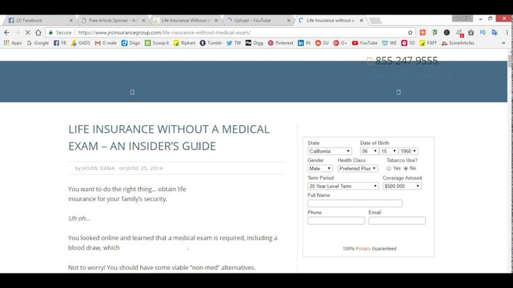 Life Insurance Without A Medical Exams