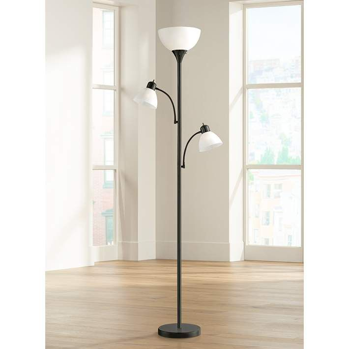 Bingham Black Tree Torchiere 3 Light Floor Lamp 1y323 Lamps