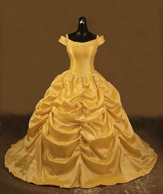 Beauty and  the Beast  Belle Adult Cosplay Costume Gown Dress Cosplay on Etsy, $450.00  I really wish I had the money for this :3 #fashion #clothing #women