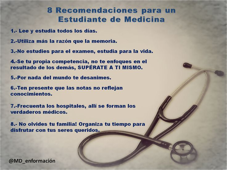 Recomendaciones para estudiantes de medicina