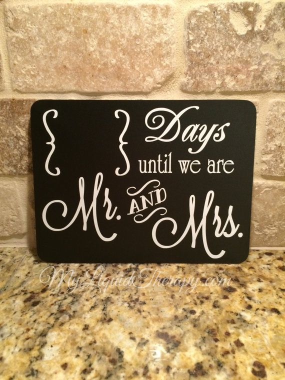 the 25 best wedding countdown ideas on pinterest countdown Wedding Countdown Messages wedding countdown mr and mrs magnetic chalkboard countdown (6\