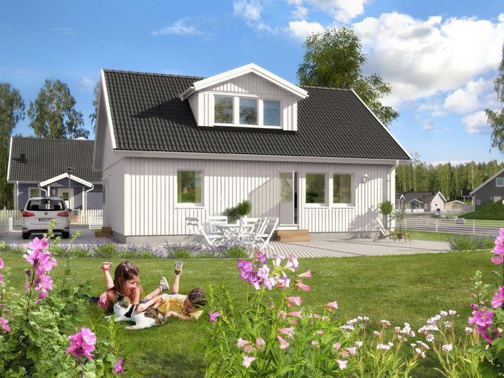 1,5-planshus Bjarke är ett litet mysigt, gediget trähus fördelat på två rum och kök. Köket är rejält tilltaget med utrymme både för matlagning och umgänge.