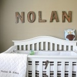 Baby name on the wall