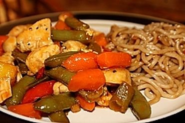 sweet and sour chicken stirfry