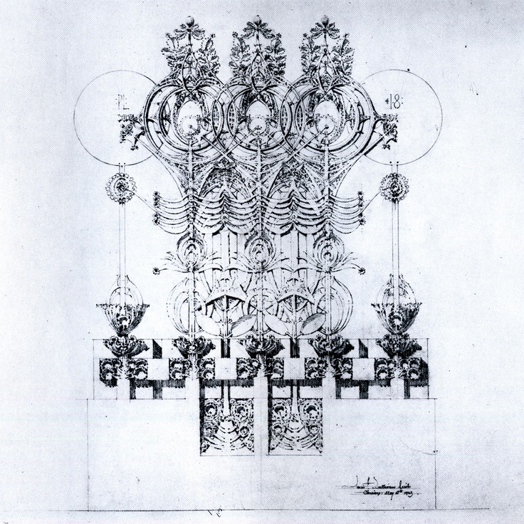 Plate 18 Untitled From Louis Sullivans System Of Architectural Ornament 1923 SullivanArchitectural DrawingsArt NouveauArt