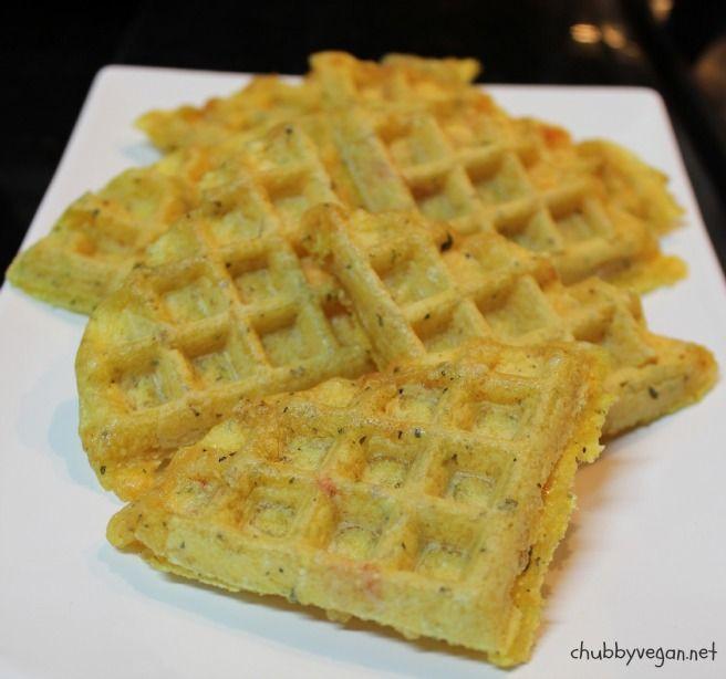 Waffle pão de queijo vegan
