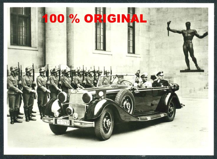 orig. WK2 PK TECHNIK FOTO - Mercedes Cabrio - Reichskanzlei Berlin - Ehrenwache