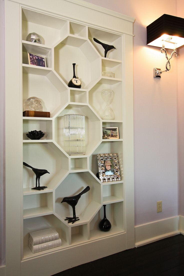 Hexagon bookcase. We are drooling