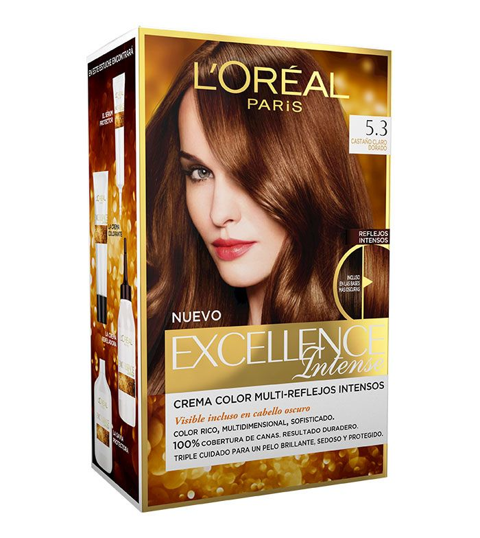 L´Oréal Paris - Coloración Excellence Intense - 5.3: Castaño Claro Dorado