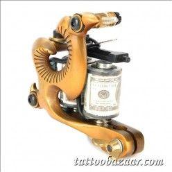 97183 Professional Tattoo Machine Liner Shader Gun - Golden + Black