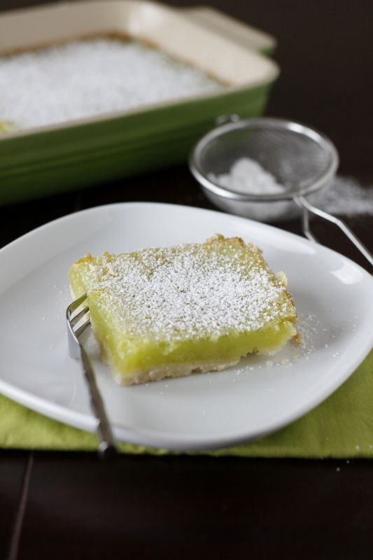 Key Lime Bars ~ there aren't graham crackers in this crust ~ makes a ...