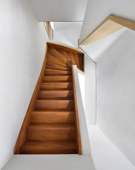 Interior stairs in house in amsterdam by dutch studio egeon architecten staircases - Stairs in home ...