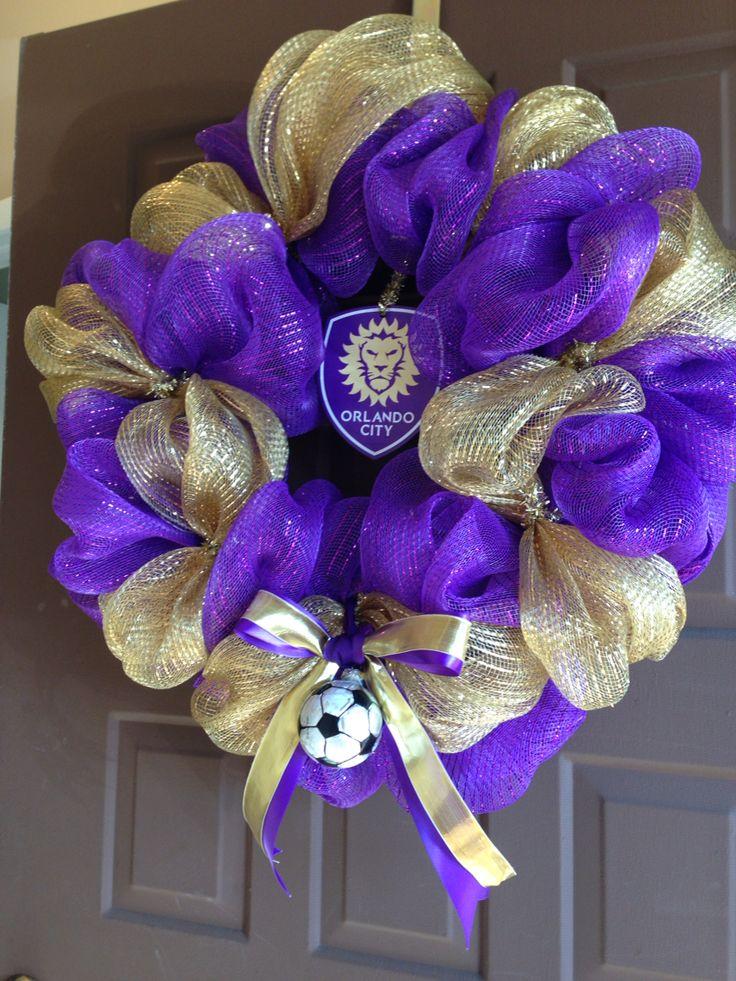 It's game day! GO CITY!!  Orlando City Soccer wreath!