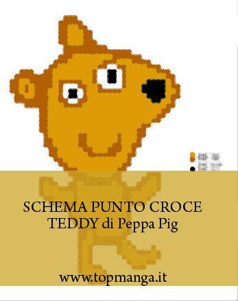 schema punto croce Teddy - Peppa Pig