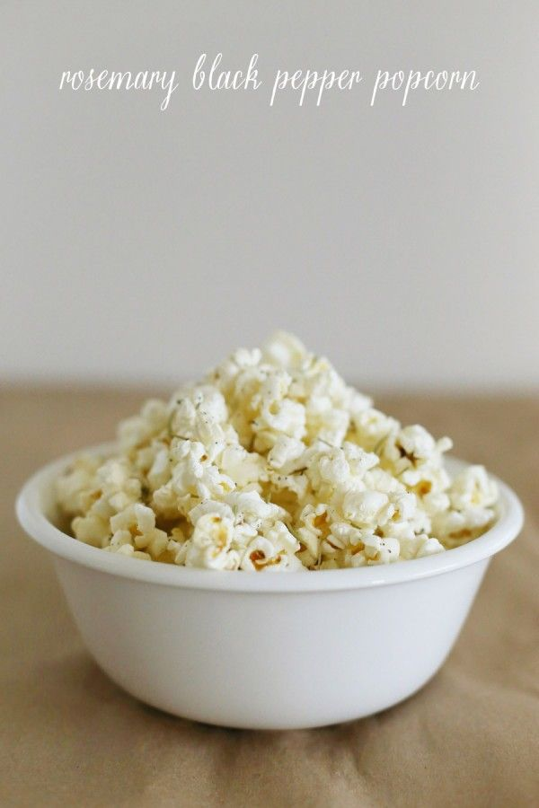 Rosemary Black Pepper Popcorn