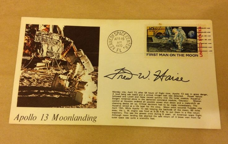 "Fred Haise Apollo 13 ""Moon Landing"" Postal Cover - Autopen"