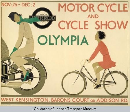 Motorcycle and Cycle Show, by Andre Edouard Marty, 1933 - London Transport Museum