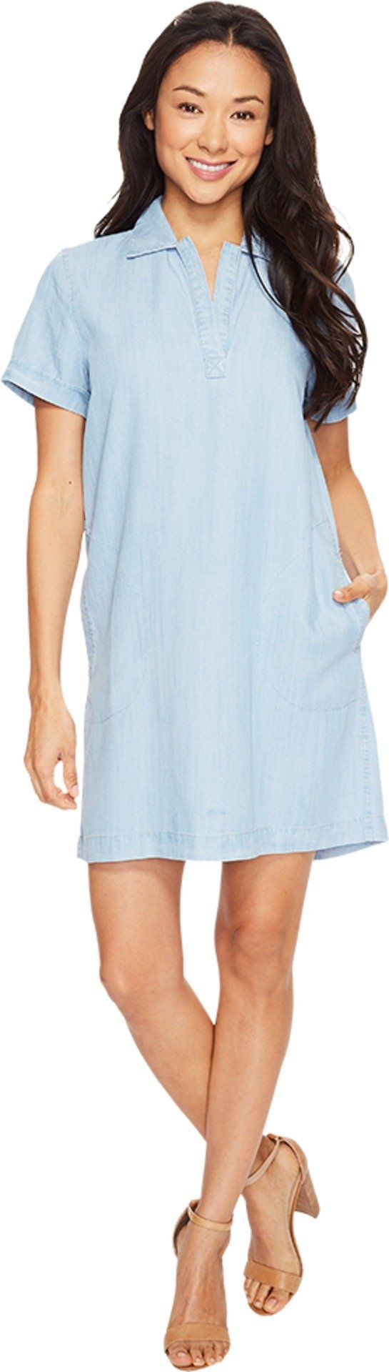 Lilla P Women's Shirtdress Light Chambray Dress