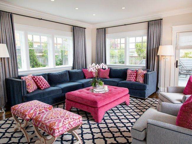 21 Easy Unexpected Living Room Decorating Ideas Blue And Pink Living Room Rugs In Living Room Pink Living Room