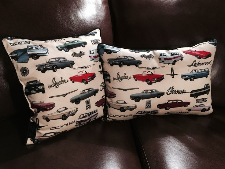 Corvair Pillows. These look great on the back seat or easy chair! Showseasonaccessories.com