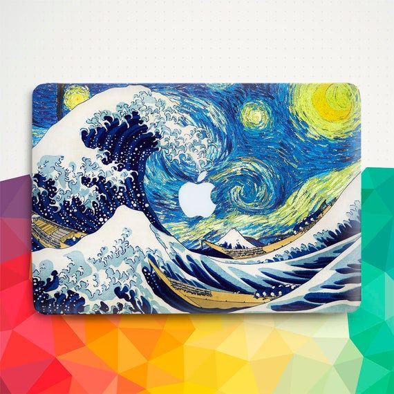 Vintage Macbook case Van Gogh Macbook Air 13 inch Pro 13 15 12 Nature Art Japanese Ocean Painting Starry Night Great Wave Kanagawa cover