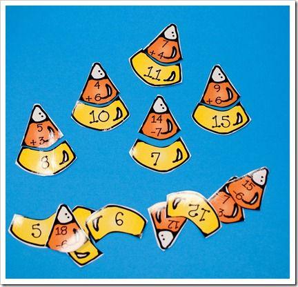 Math CenterSchools Ideas, Corn Addition, Teaching Math, Candy Corn, Candies Corn, Addition Math, Corn Math, Halloween Math, Halloween Ideas