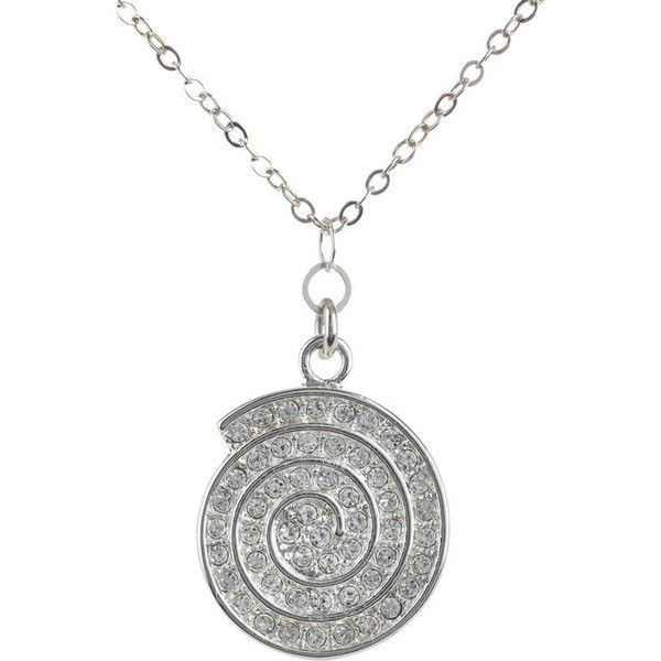 Athena Swirl Pendant Necklace ($69) ❤ liked on Polyvore featuring jewelry, necklaces, silver, necklaces & pendants, pave pendant, body chain jewelry, cross necklace and pandora jewelry