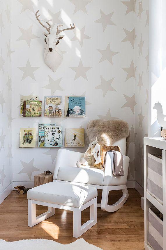 Self adhesive vinyl temporary removable wallpaper, wall decal - Star wall print - 060