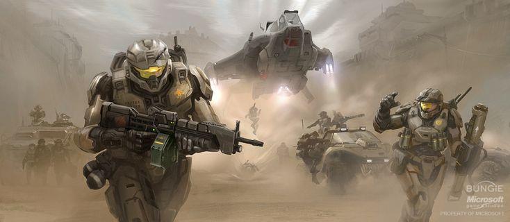 Spartan Assault #ConceptArt from #HaloReach