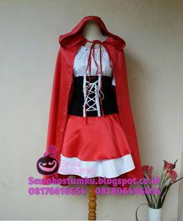 Sewa Kostum Red Riding Hood hub 0817 661 6654