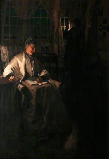Her Signal by Norman Garstin 1892 at Royal Institution of Cornwall Norman Garstin, born in Ireland, came to Newlyn in 1886. He was the intellectual member of the Newlyn School, an admirer of Manet, Whistler and the use of asymmetry in Japanese prints.