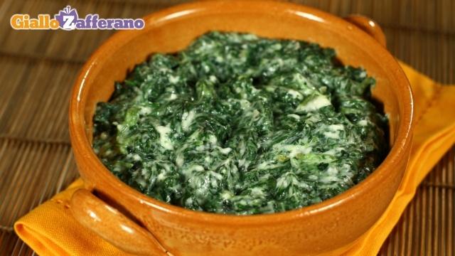 Spinaci con besciamella