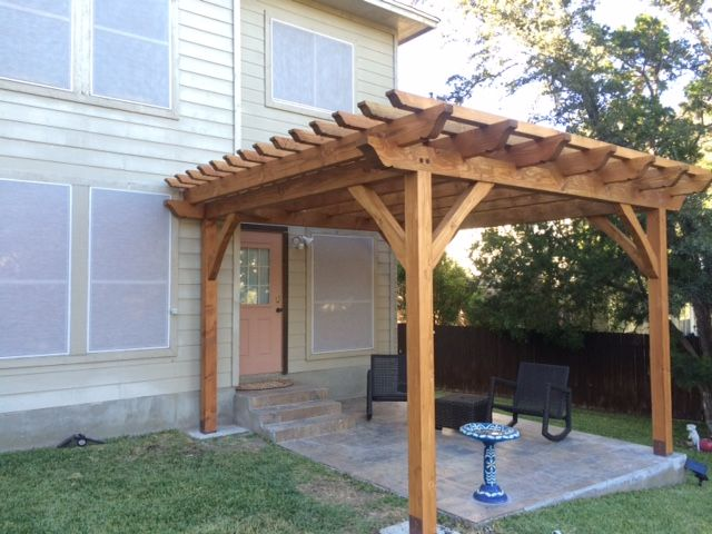 Free Standing Pergola Over Deck How To Build A Yard Shed