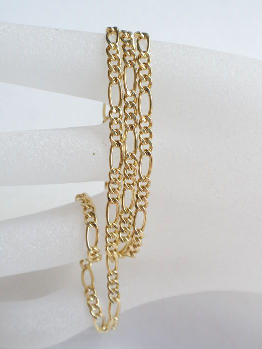 Aktuell in den #Catawiki-Auktionen: Figaro Halskette Gold 585 - 49 cm