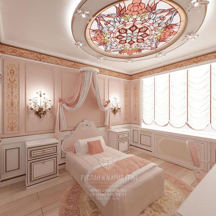 Розовая детская комната для девочки  http://www.line-mg.ru/wp-content/uploads/2014/10/art-detskaya-dlya-devochki-2.jpg
