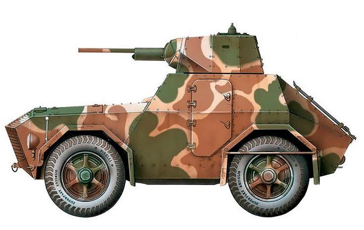"""""""Autoblinda AS 43, Gruppo Corazzato 'Leonessa', Secteur de la Lombardie, RSI, avril 1945"""""""