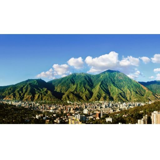 Wide panoramic view of Avila, Caracas, Vzla Canvas Print