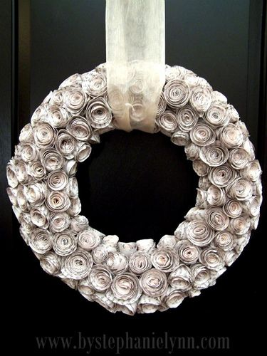 Believe it or not, this was made with pages from old books.  I love this!