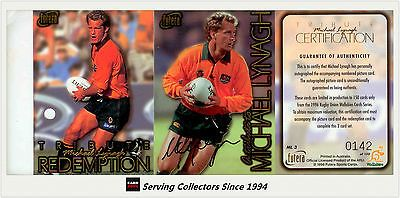 Rugby League NRL Cards 25583: 1996 Futera Rugby Union Trading Cards Michael Lynagh Tribute Signature Card-Rare -> BUY IT NOW ONLY: $450 on eBay!