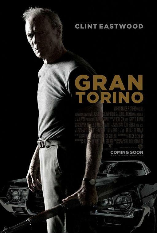 """Gran Torino"" (2008) Disgruntled Korean War vet Walt Kowalski sets out to reform his neighbor, a young Hmong teenager, who tried to steal Kowalski's prized possession: his 1972 Gran Torino."
