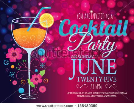 49 best images about Cocktail Posters – Free Cocktail Party Invitation Templates