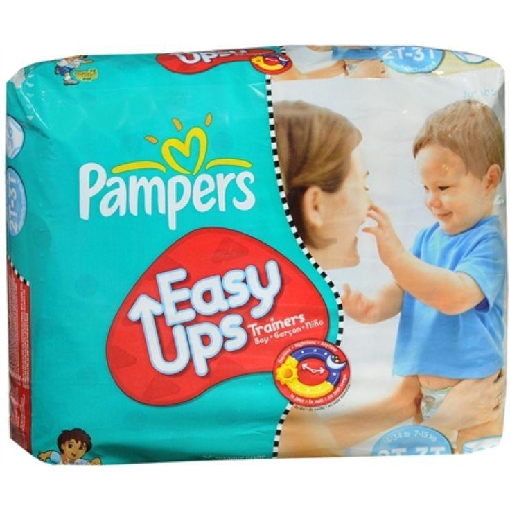 Pampers Easy Ups Training Pants Boys 26 Each [4 packs per case], Black