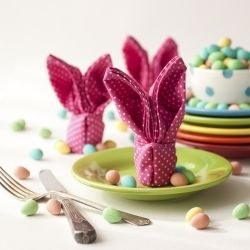 Learn how to fold your own bunny napkins just in time for Easter!