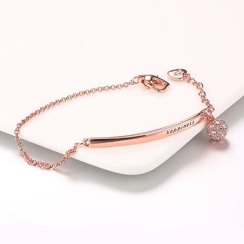 Double Fair OL Style Cubic Zirconia Ball Fashion Charm Bracelets