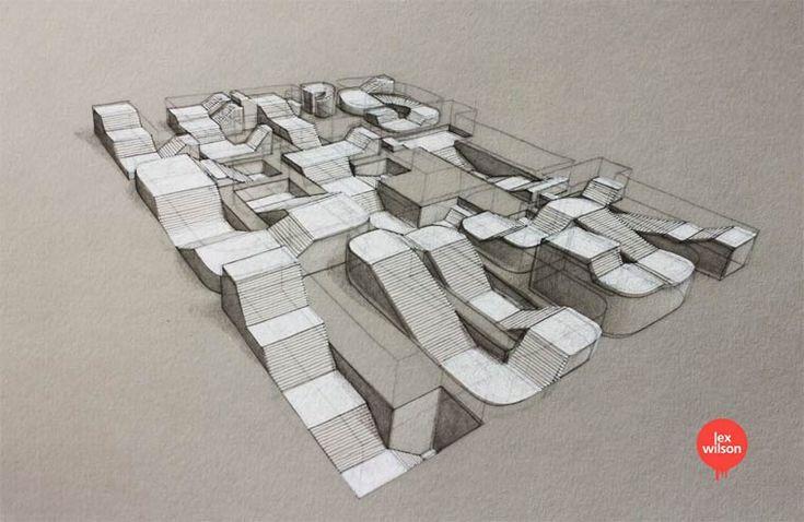 Lex Wilson - 3D typography