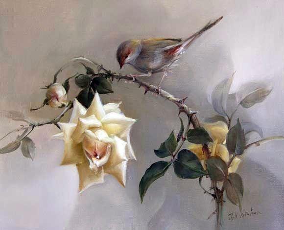 Розы австралийской художницы Jill Kirstein... Обсуждение на LiveInternet - Российский Сервис Онлайн-Дневников